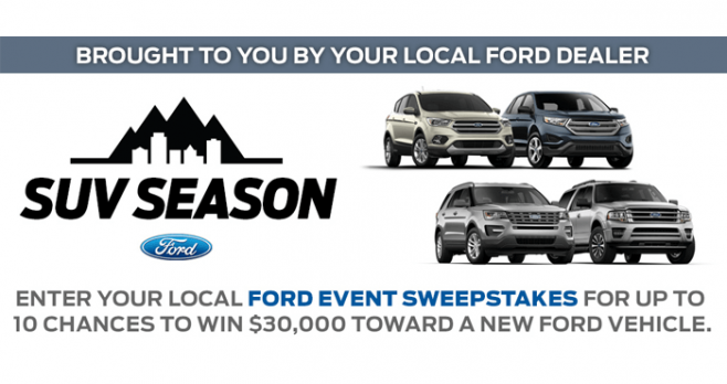 Ford Event Sweepstakes 2016 (FordEventSweepstakes.com)