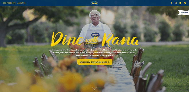 Giovanni Rana Dine with Rana Sweepstakes