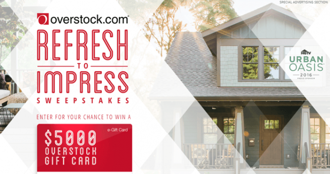 HGTV.com/RefreshToImpress - HGTV Refresh to Impress Sweepstakes