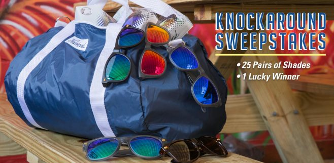 Knockaround Win A Duffel Bag of Sunglasses Sweepstakes