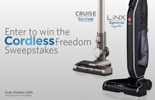 Hoover LiNX & Cruise Cordless Freedom Sweepstakes