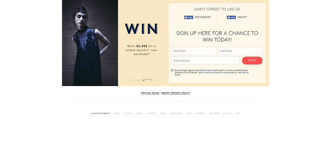 Refinery 29 + Maiyet Sweepstakes