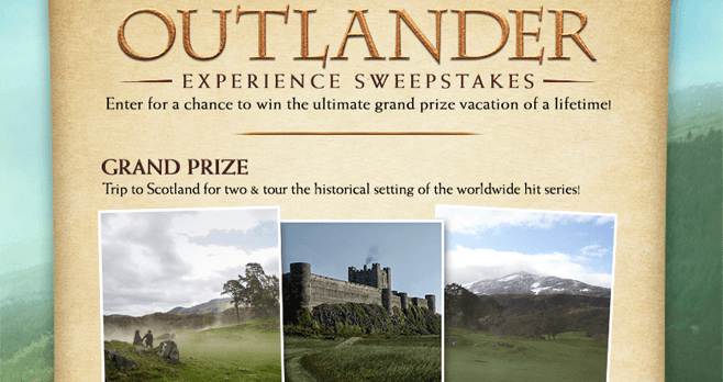 Starz Outlander Store Experience Sweepstakes