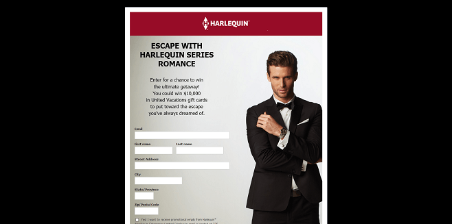 Harlequin $10,000 Vacation Sweepstakes