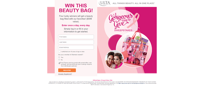 Ulta A Gorgeous Way To Give Sweepstakes
