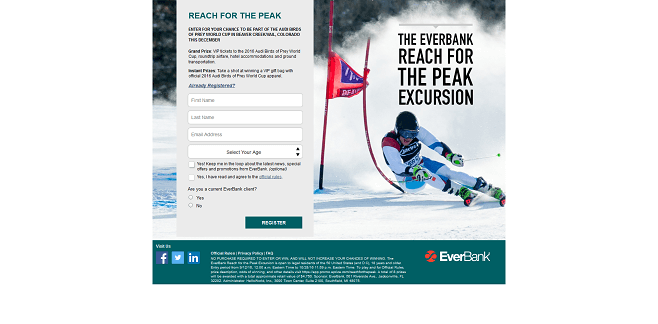 2016 EverBank Reach for the Peak Excursion Promotion