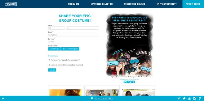 Beautyrest Halloween Costume Contest