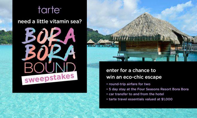 Tarte Bora Bora Bound Sweepstakes