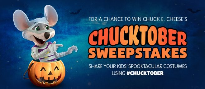 Chuck E. Cheese's Chucktober 2016 Sweepstakes