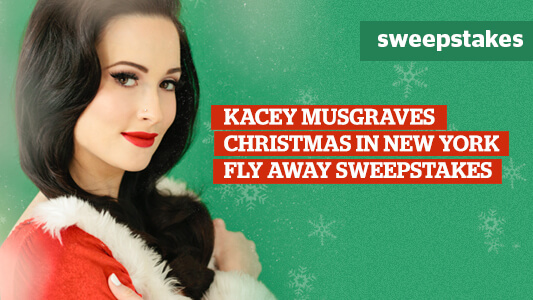 CMT Kacey Musgraves Christmas in New York Flyaway Sweepstakes