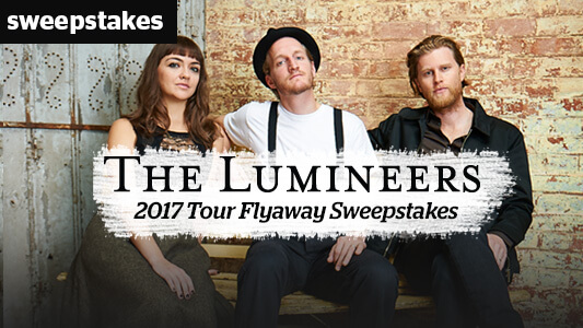 CMT The Lumineers 2017 Tour Flyaway Sweepstakes