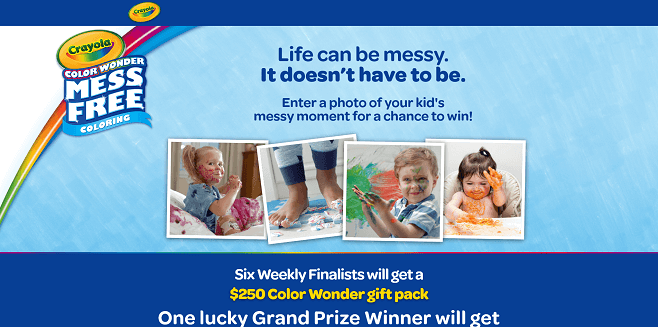 Crayola Color Wonder Messy Kids Contest