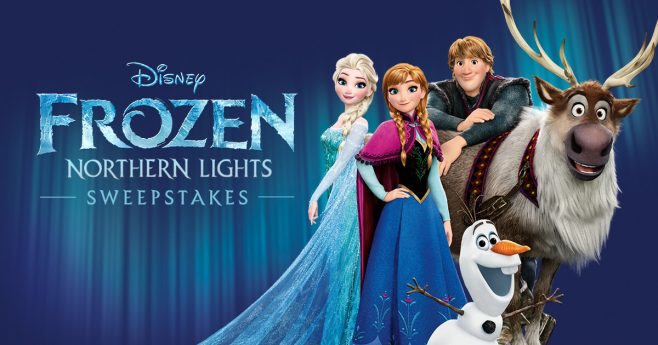 Disney Frozen Northern Lights Sweepstakes (Disney.com/FrozenNorthernLights)