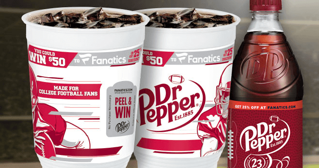 2016 Dr Pepper Win 50 Giveaway (Fanatics.com/DrPepper)