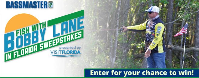 Bassmaster Fish with Bobby Lane in Florida Sweepstakes