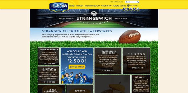 Hellmann's Strangewich Tailgate Sweepstakes