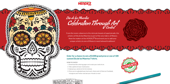 Herdez Dia de Los Muertos Celebration Through Art Contest