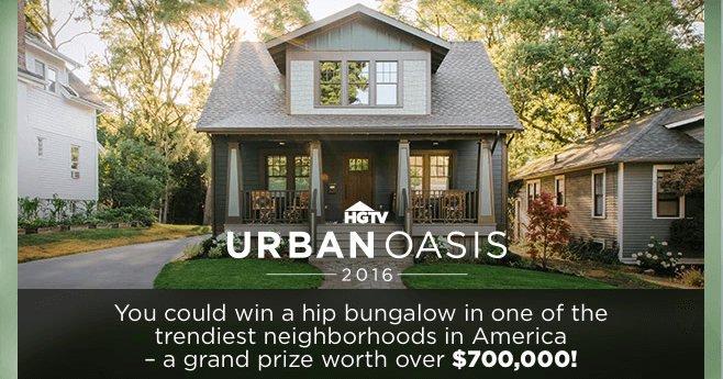 HGTV Urban Oasis 2016 Sweepstakes