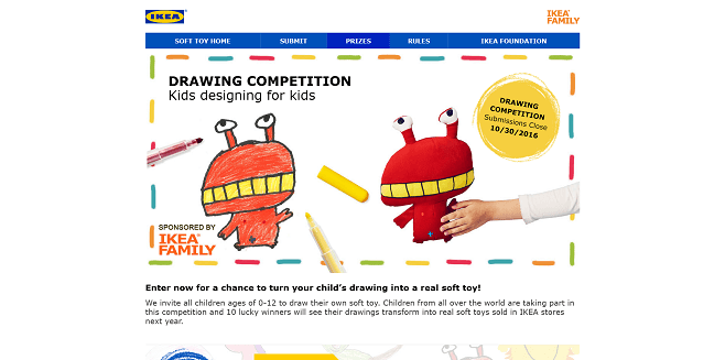 IKEA FAMILY Global Soft Toy Drawing Competition