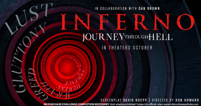 Inferno Journey Through Hell Sweepstakes (JourneyThroughHell.com)