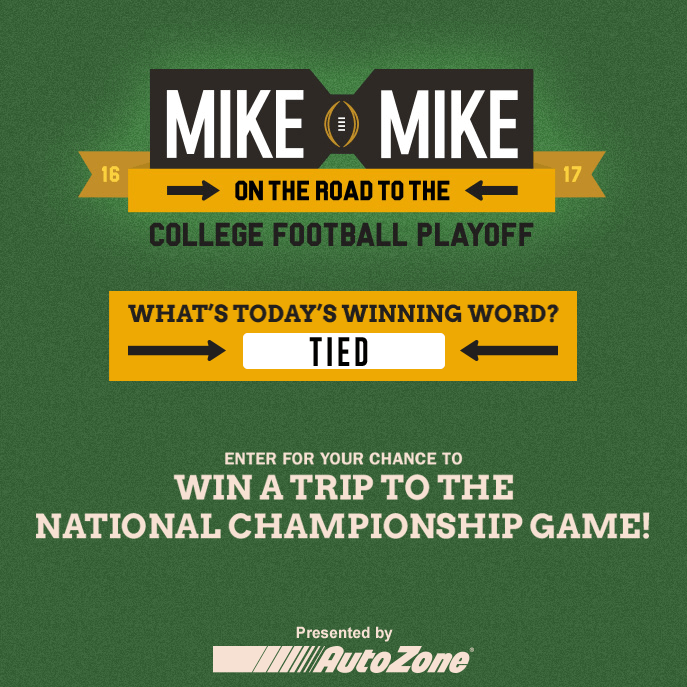 Mike And Mike Winning Word