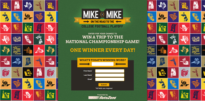 Mike And Mike Road To The CFP Sweepstakes (MikesRoadToTheCFP.com)