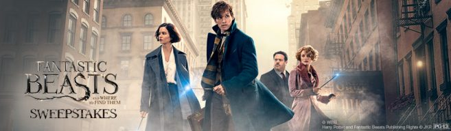 MovieTickets.com's Fantastic Beasts and Where to Find Them Sweepstakes