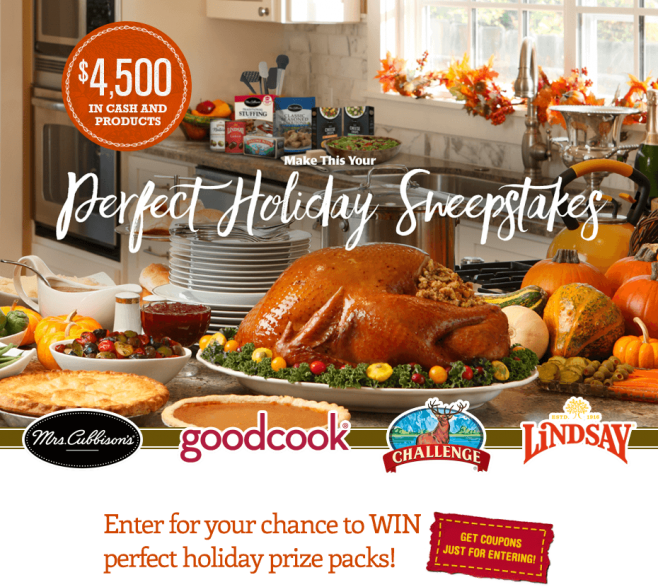 Mrs. Cubbison's $4,500 Holiday Sweepstakes