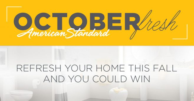 American Standard OctoberFresh Sweepstakes