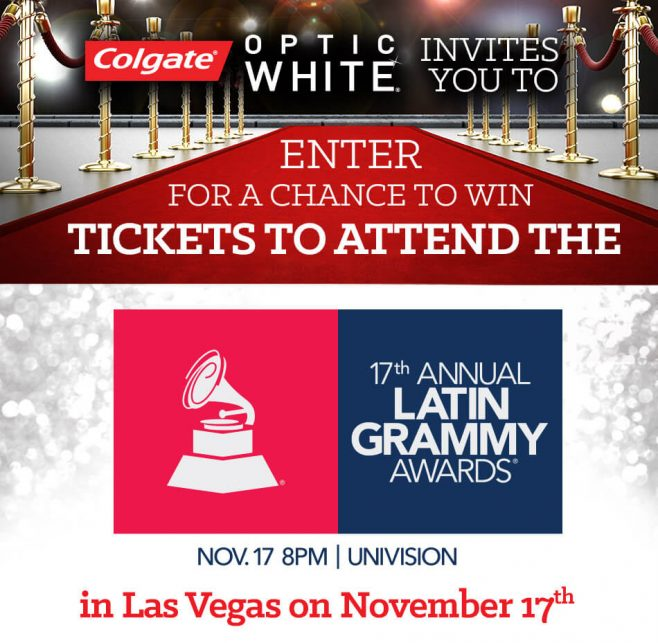 Colgate 2016 Latin Grammy Awards Sweepstakes