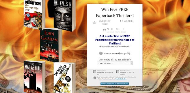 Paul Casselle Win Five FREE Paperback Thrillers Giveaway