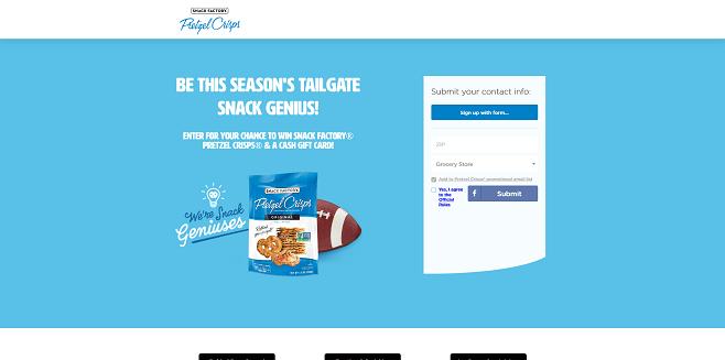 Snack Factory Pretzel Crisps Snack Genius Tailgate Giveaway