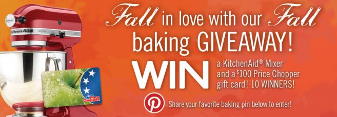 Price Chopper Fall Baking Sweepstakes
