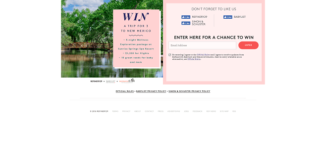 Refinery29 + BabyList + Simon & Schuster Sweepstakes