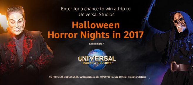 Amazon Halloween Horror Nights Vacation Sweepstakes