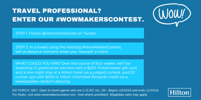 Hilton #WowMakersContest and Sweepstakes