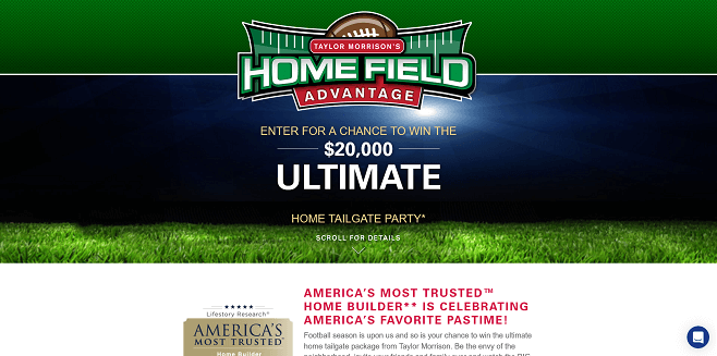 Taylor Morrison Home Field Advantage Sweepstakes
