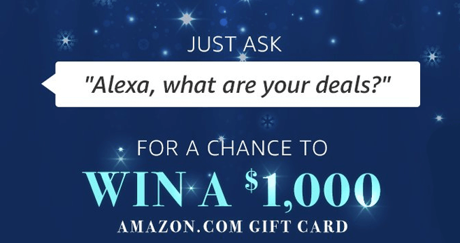 Amazon Alexa Voice Shopping Sweepstakes