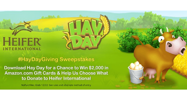 Amazon Hay Day Sweepstakes (Amazon.com/HayDaySweepstakes)