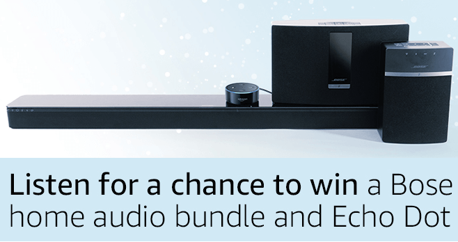Amazon Echo Dot And Bose Home Audio Sweepstakes
