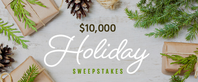 Cooking Light $10,000 Holiday Sweepstakes 2016