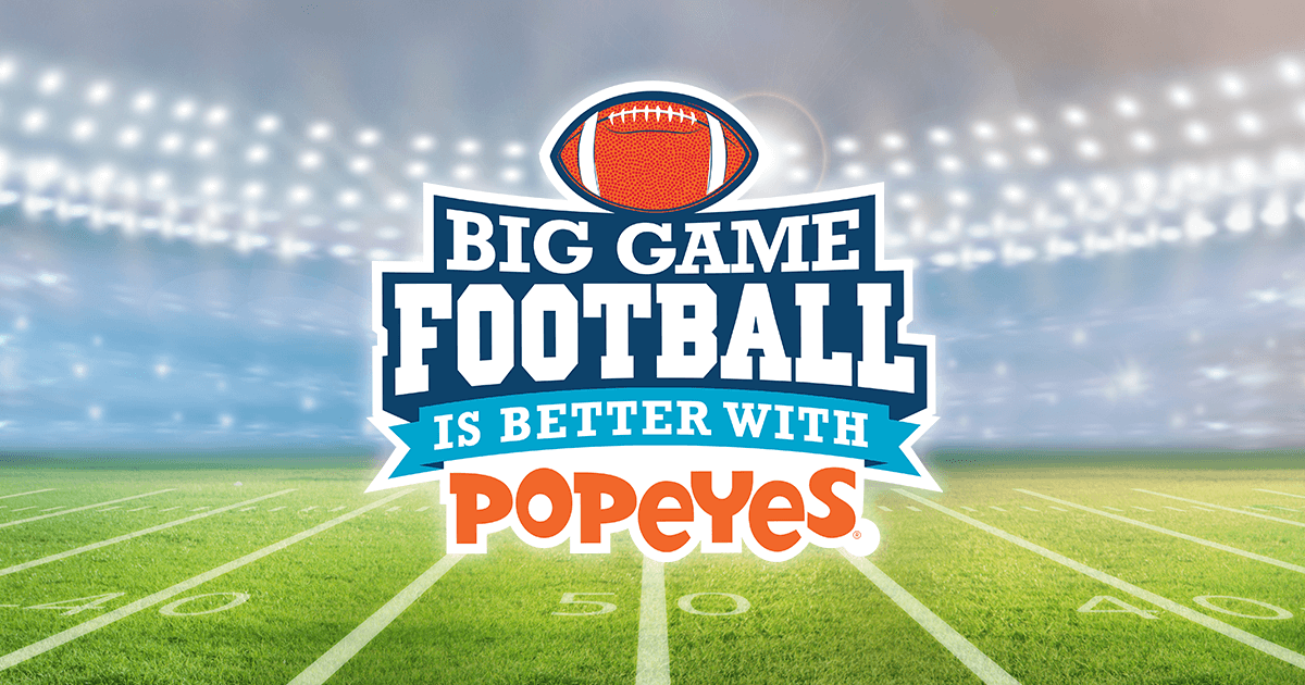Football Is Better With Popeyes Sweepstakes (FootballIsBetterWithPopeyes.com)
