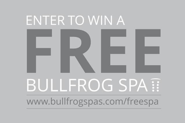 Bullfrog Spas Free Spa Giveaway
