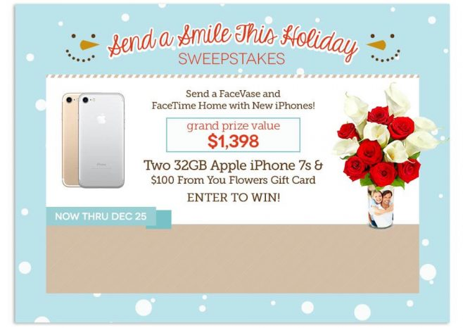 From You Flowers Send A Smile This Holiday Sweepstakes
