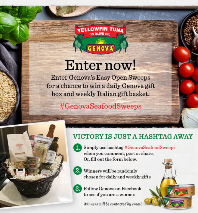 Genova Seafood's Easy Open Sweepstakes
