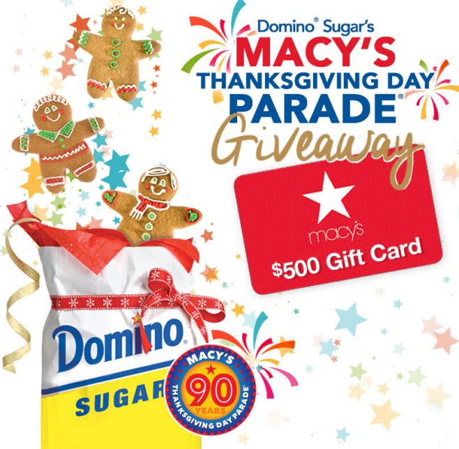 Domino Sugar Macy's Thanksgiving Day Parade Gift Card Giveaway