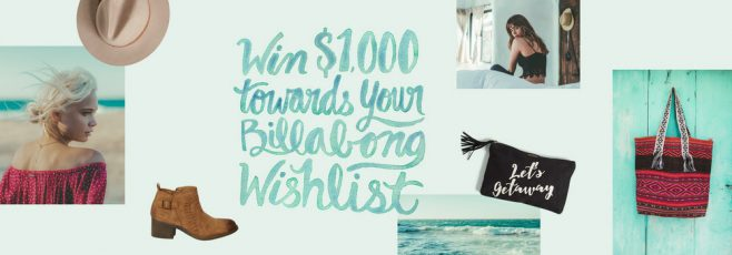 Billabong Win Your Wishlist Sweepstakes