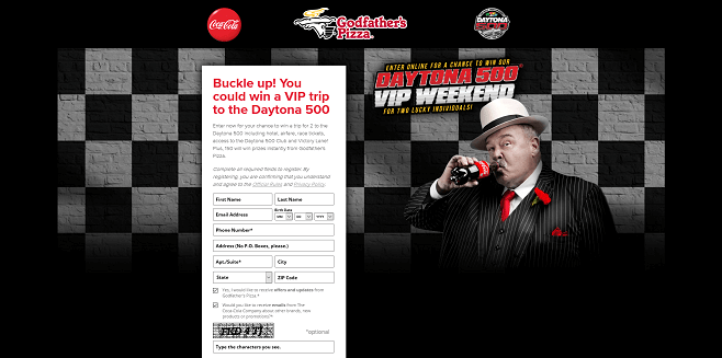 Godfather's Pizza Daytona 500 Giveaway
