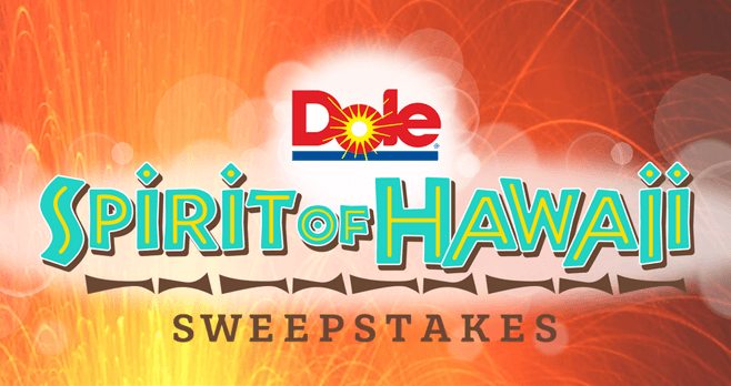 Dole Spirit of Hawaii Sweepstakes (DoleSunshine.com/Paradise)