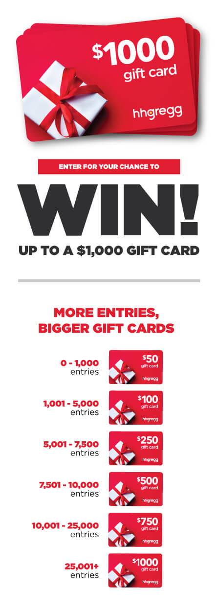 hhgregg Gift Card Sweepstakes